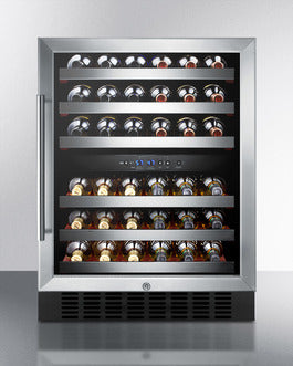 "Summit SWC530BLBISTCSS 24"" Wide Built-In Wine Cellar"
