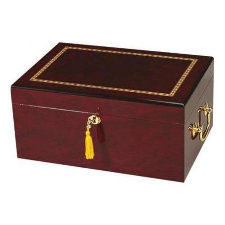 Quality Importers, Humidor Alhambra Cigar Desktop 75 to 100 Cigar Count, Humidor - Humidor Enthusiast