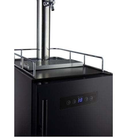 "Kegco HBK15BBR 15"" Wide Commercial Home Brew Kegerator with Black Door"