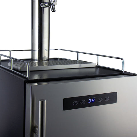 "Kegco KOM15BSRNK 15"" Wide Kombucha Single Tap Stainless Steel Commercial Kegerator"