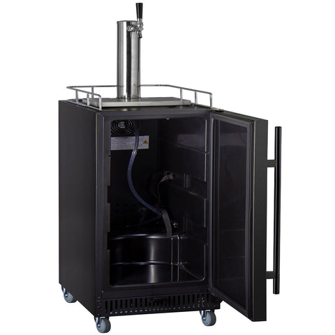 "Kegco ICS15BBRNK 15"" Wide Cold Brew Coffee Single Tap Black Commercial Kegerator"