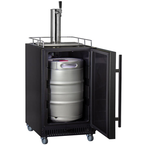 "Kegco KOM15BBRNK 15"" Wide Kombucha Single Tap Black Commercial Kegerator"