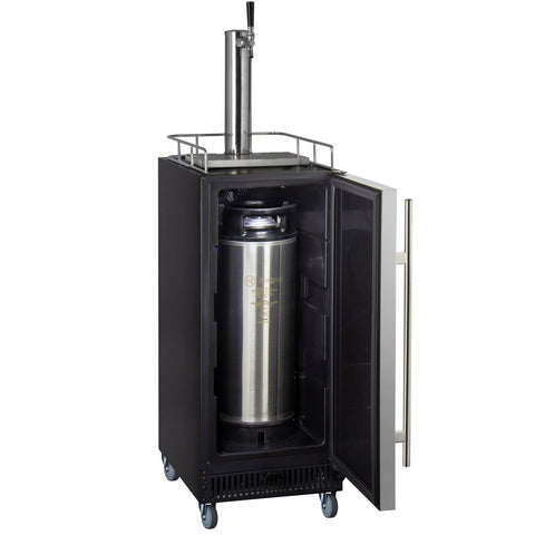 "Kegco HBK15BSR 15"" Wide Commercial Home Brew Keg Dispenser with Stainless Steel Door"