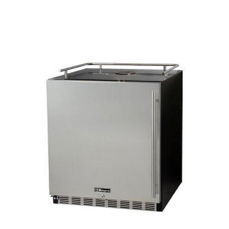 "Kegco HK-38-BS-L 24"" Wide Stainless Steel Commercial Built-In Left Hinge Kegerator - Cabinet Only"