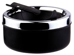 Visol Dash Black Matte Metal Cigar Ashtray - Humidor Enthusiast