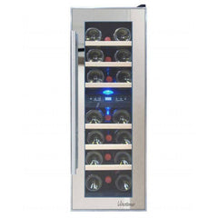 Vinotemp 21-Bottle Dual-Zone Thermoelectric Mirrored Wine Cooler