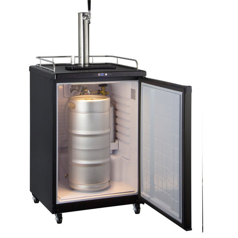 Kegco KOM163B-1NK Full Size Commercial Grade Digital Kombucha Dispenser - Black Cabinet with Black Door