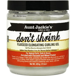 Aunt Jackie's Curls & Coils Don't Shrink Flaxseed Elongating Curling Gel (15 oz.)