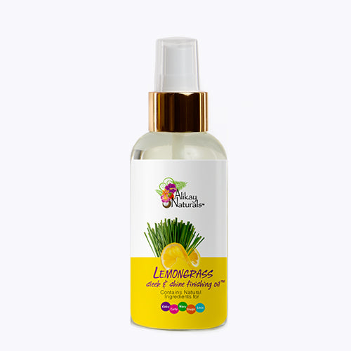 Alikay Naturals - Lemongrass Sleek And Shine Finishing Oil (4 Oz)