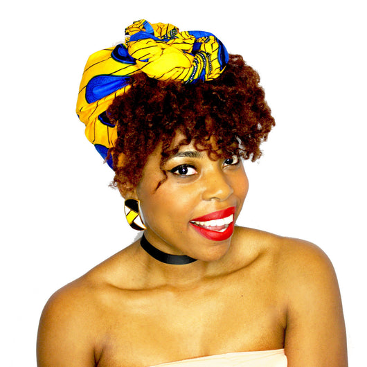 ZIYAH - Large African Print Headwrap