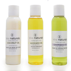 Kika Naturals- 100%. natural Oil Bundle (Coconut, Avocado and Grapeseed)