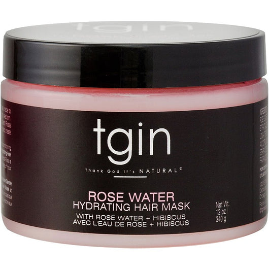 TGIN - Rose Water Smoothing Hydrating Hair Mask (12oz)