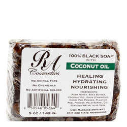RA COSMETICS - 100% Natural Black Soap with Coconut Oil (5oz)