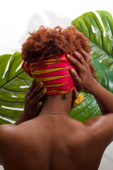 Naya  - Small African Print Headwrap (Pink)