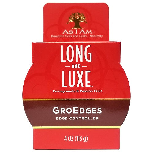 As I Am Long & Luxe Pomegranate & Passion Fruit GroEdges (4oz)