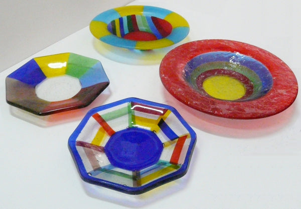 Retro Fused Glass Bowls