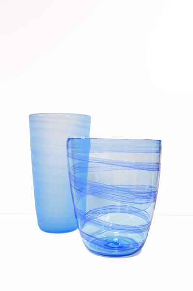 Blown Glass Vase - Blue