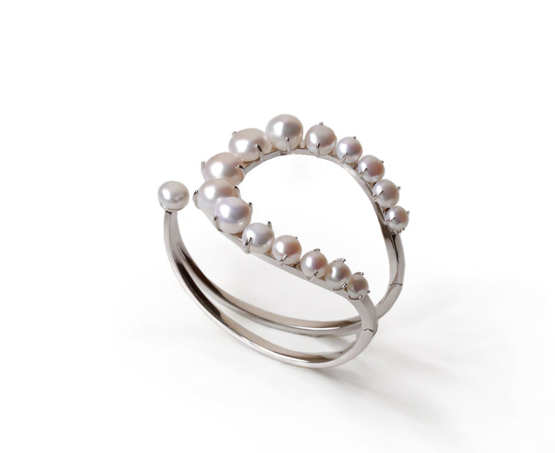 Vera Pearl U-Shaped Bangle