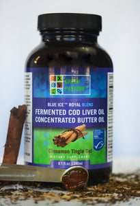 Green Pasture's Blue Ice Royal Butter Oil / Fermented Cod Liver Oil Blend - CINNAMON GEL