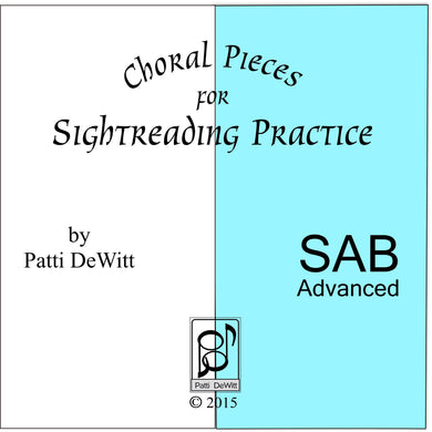 Sightreading Pieces for Advanced SAB Choir on CD-ROM