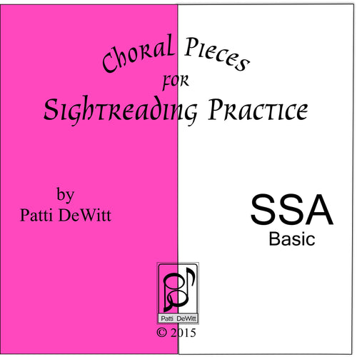 Sightreading Pieces for SSA Choir on CD-ROM