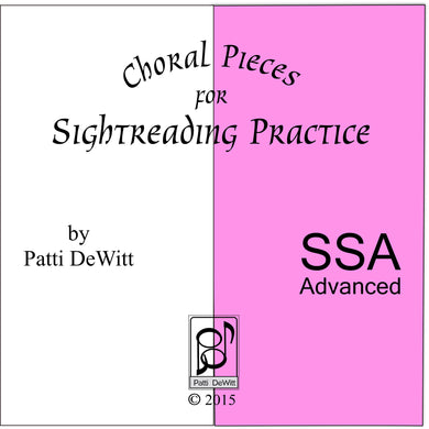 Sightreading Pieces for Advanced SSA Choir for download