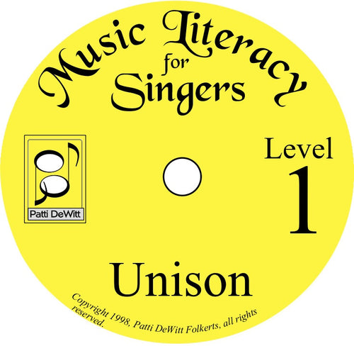 Music Literacy for Singers, Level 1, Unison on CD-ROM