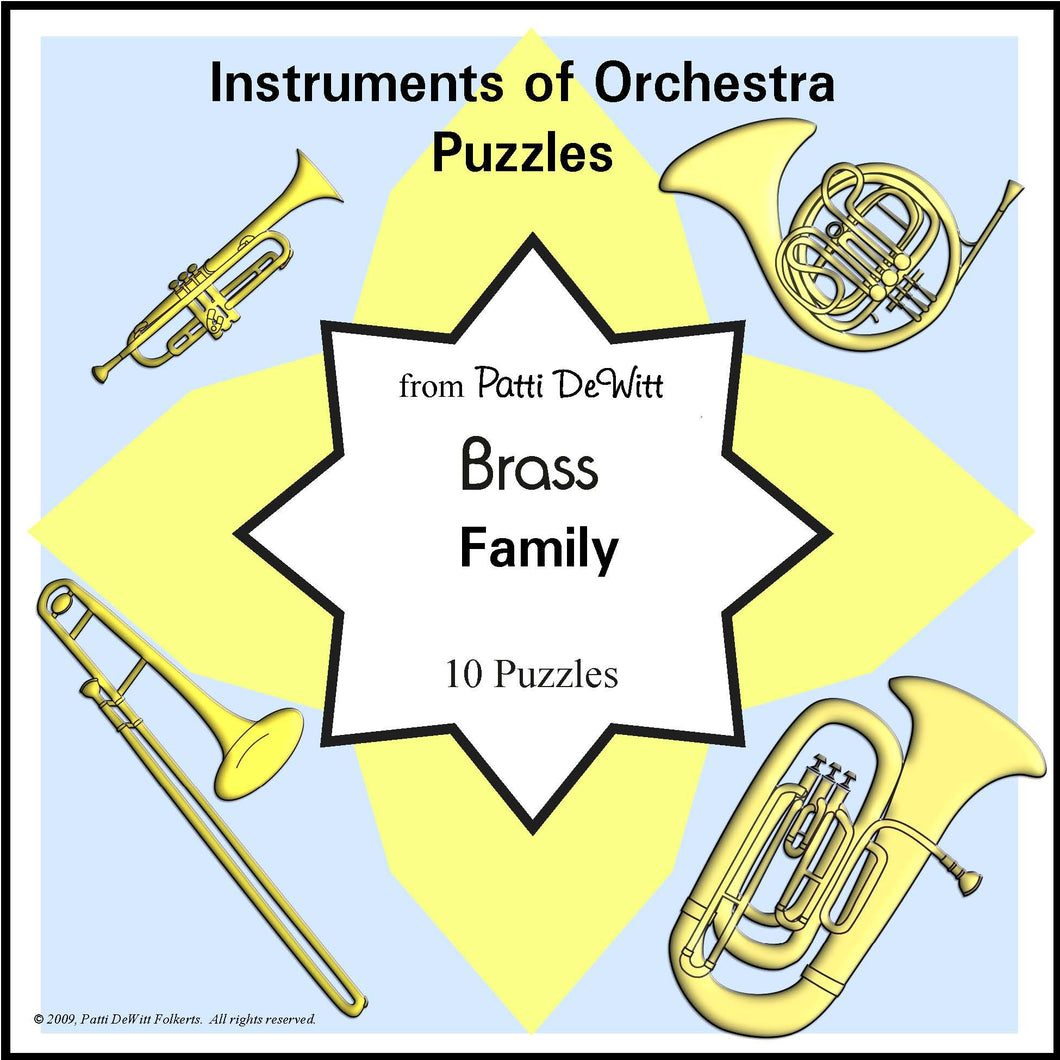 Instruments of the Orchestra Puzzles - Brass