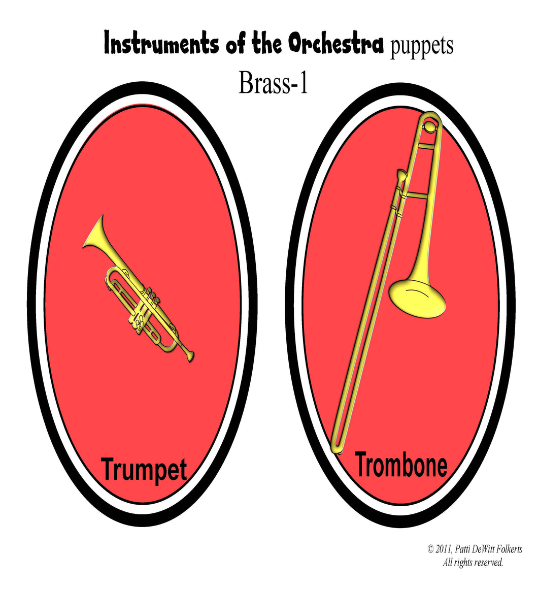 "Instruments of the Orchestra ""puppets"" - Brass"
