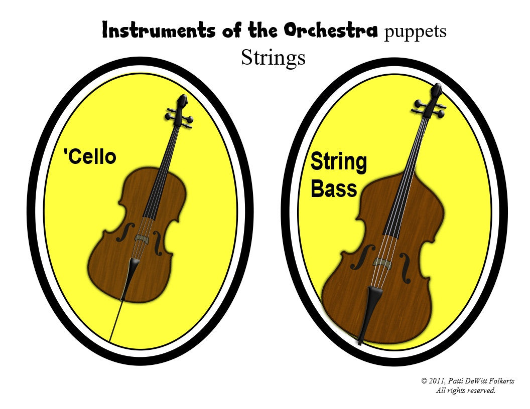 "Instruments of the Orchestra  ""puppets"