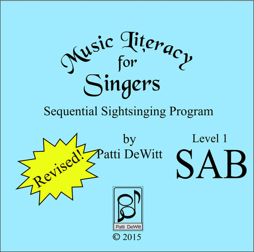 Music Literacy for Singers, Level 1, SAB (downloadable)