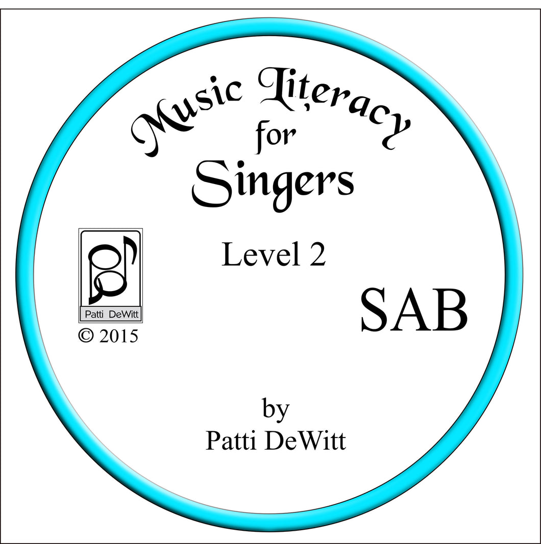 Music Literacy for Singers, Level 2, SAB CD-ROM