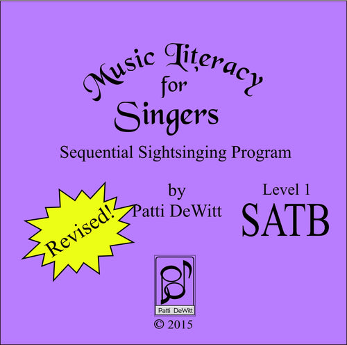 Music Literacy for Singers, Level 1, SATB (downloadable)
