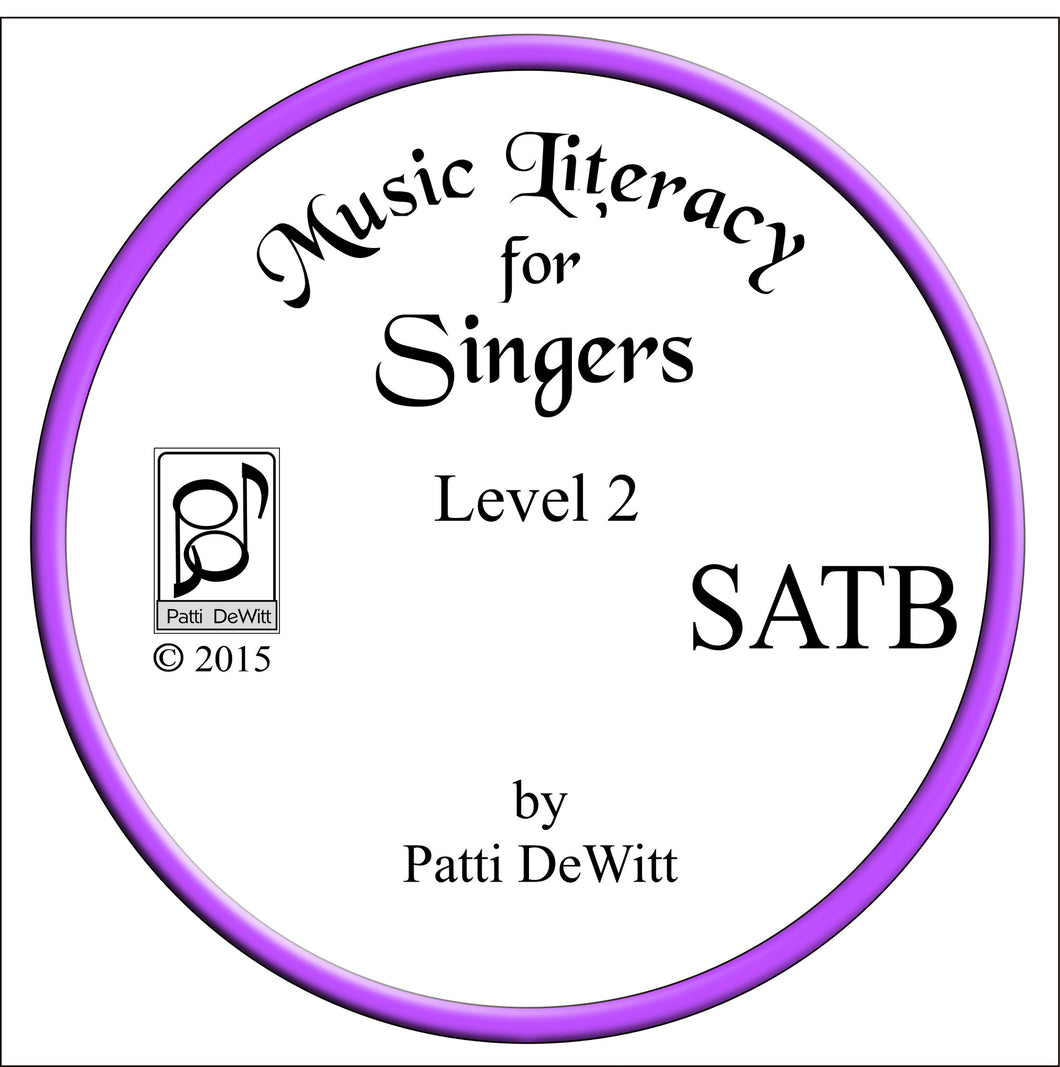 Music Literacy for Singers, Level 2, SATB (downloadable)