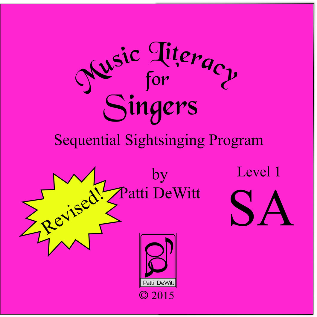 Music Literacy for Singers, Level 1, SA on CD-ROM