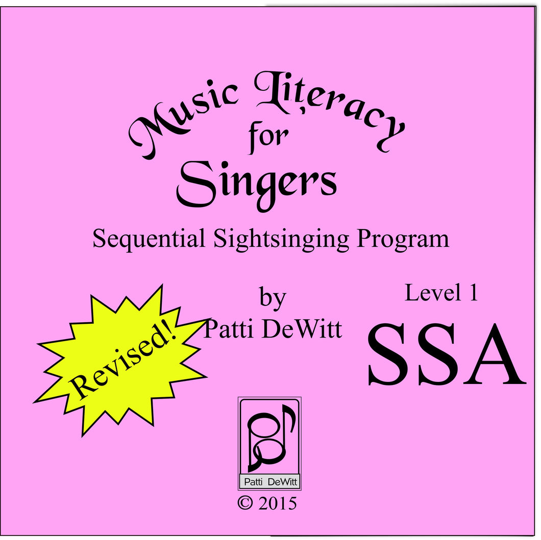 Music Literacy for Singers, Level 1, SSA CD-ROM