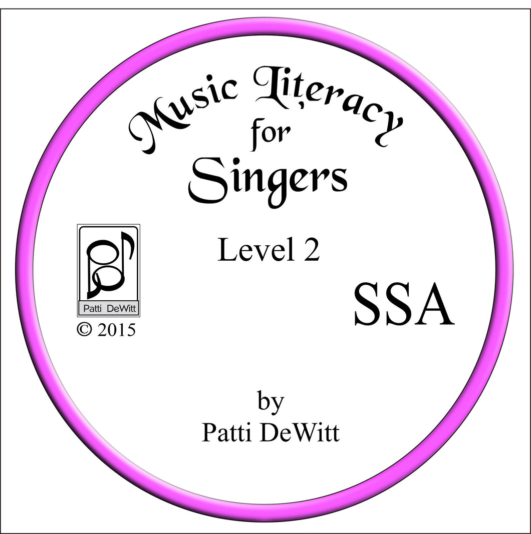 Music Literacy for Singers, Level 2, SSA CD-ROM
