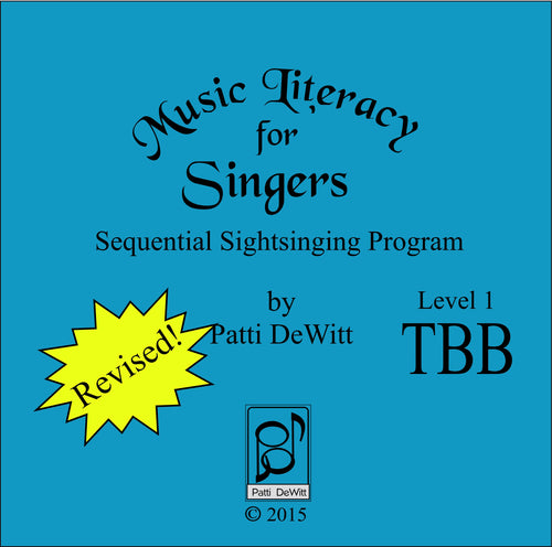 Music Literacy for Singers, Level 1, TBB (downloadable)