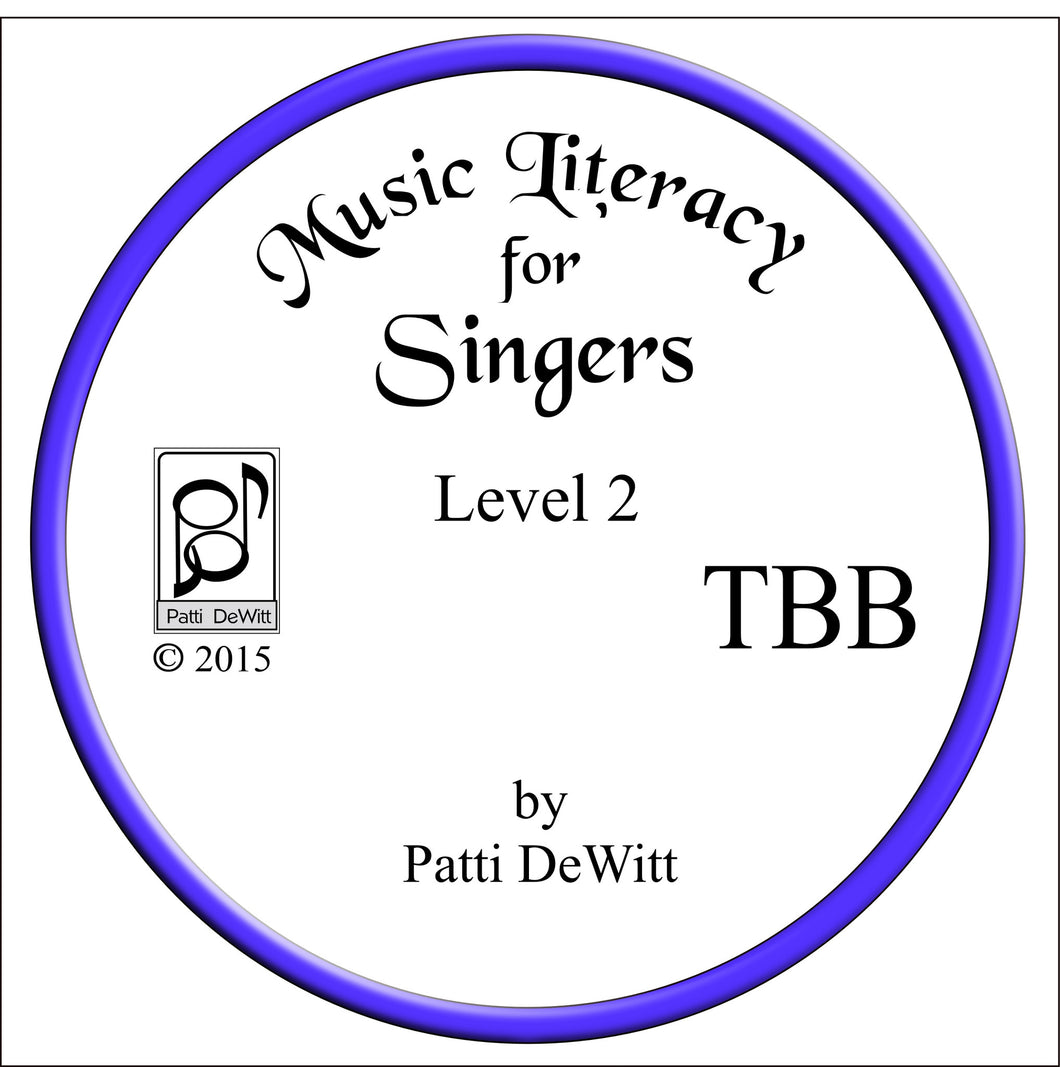 Music Literacy for Singers, Level 2, TBB CD-ROM