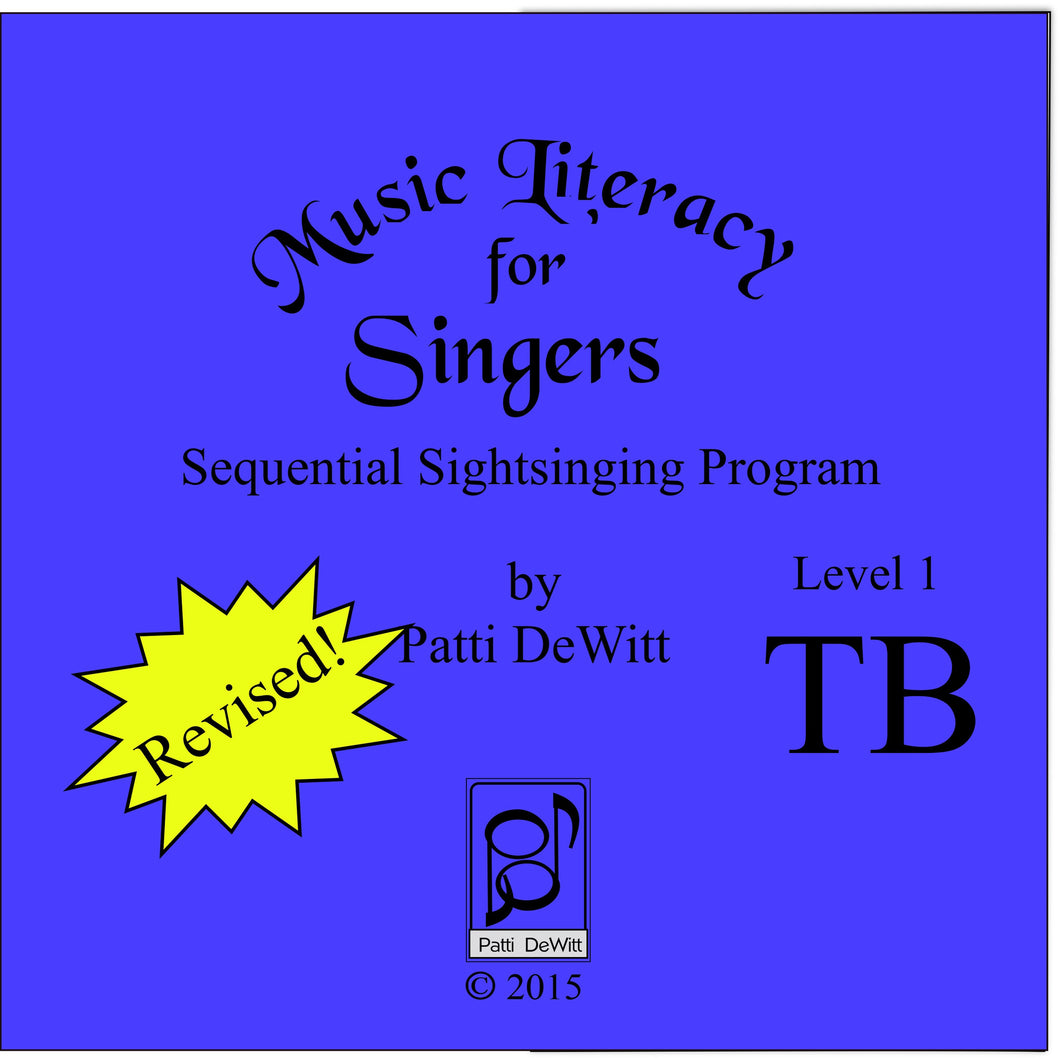 Music Literacy for Singers, Level 1, TB CD-ROM