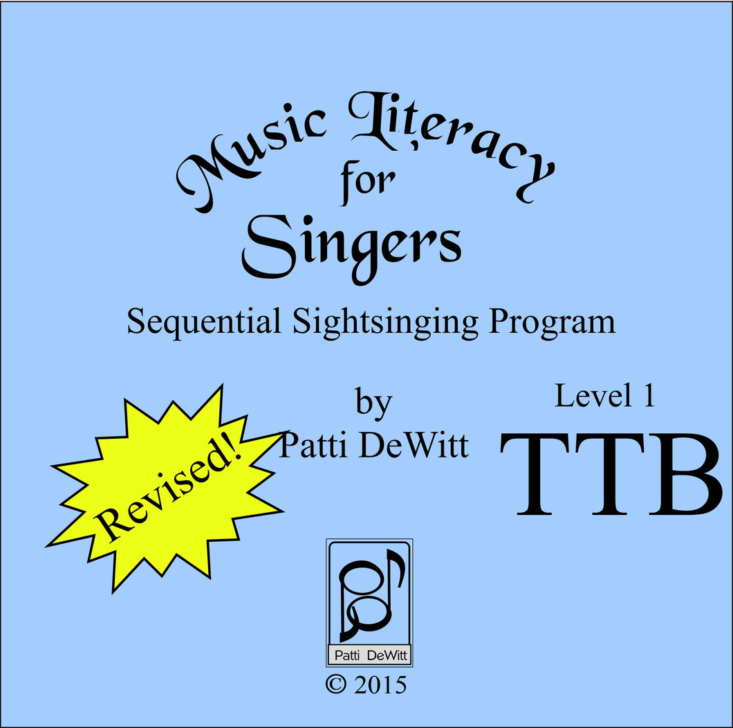 Music Literacy for Singers, Level 1, TTB (downloadable)