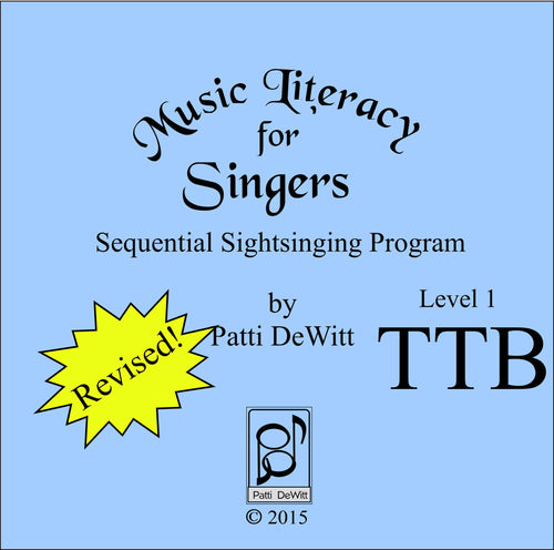 Music Literacy for Singers, Level 1, TTB CD-ROM