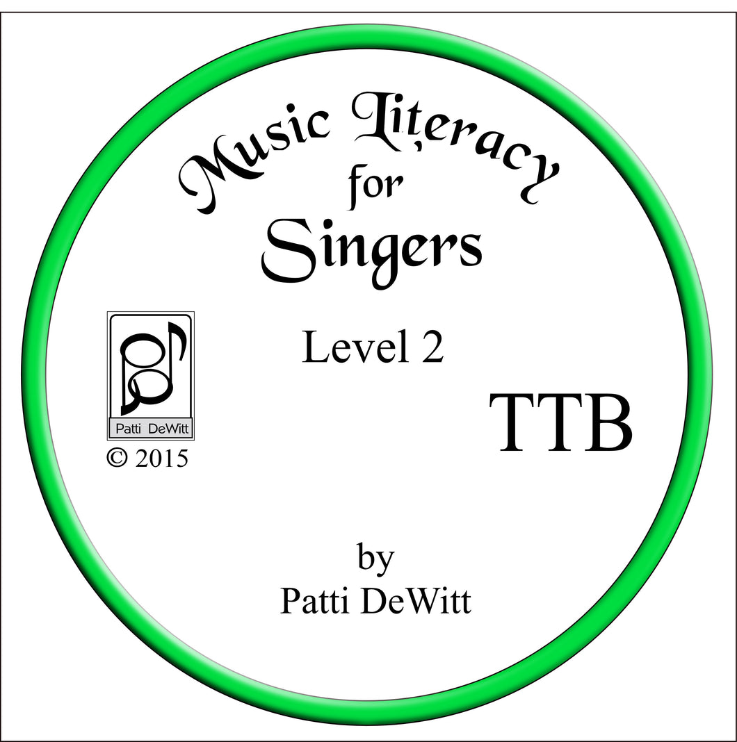 Music Literacy for Singers, Level 2, TTB CD-ROM