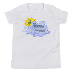 Sun Behind Clouds - Bella + Canvas 3001Y Youth Short Sleeve Tee