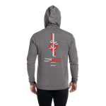 United for Aya - Unisex Lightweight Zip Hoodie | Bella + Canvas 3939