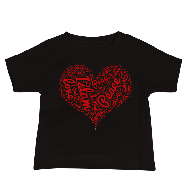 Love Islam Red - Bella + Canvas 3001YB Baby Jersey Short Sleeve Tee