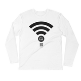 Hajj Wifi - Next Level Premium Adult Long Sleeve Fitted Crew