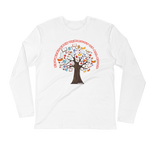 Roots of Knowledge - Next Level Premium Adult Long Sleeve Fitted Crew