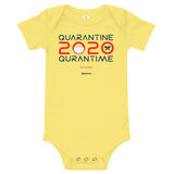 Quarantine = Quran Time - Bella + Canvas 100B Infant Short Sleeve Bodysuit