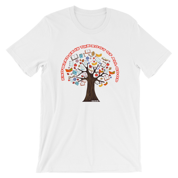 Roots of Knowledge - Bella + Canvas 3001 Adult Short-Sleeve Unisex T-Shirt